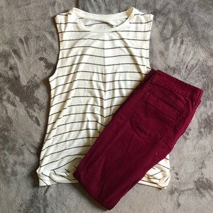 Red Camel purple skinny jeans